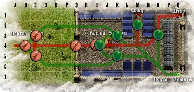карта осады